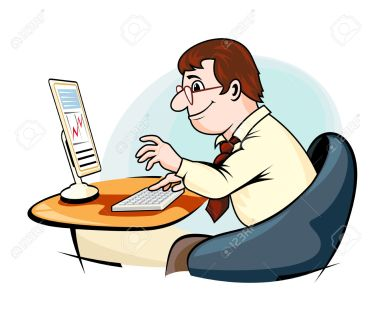 32699741-Smiling-businessman-in-cartoon-style-working-on-computer-Stock-Vector.jpg