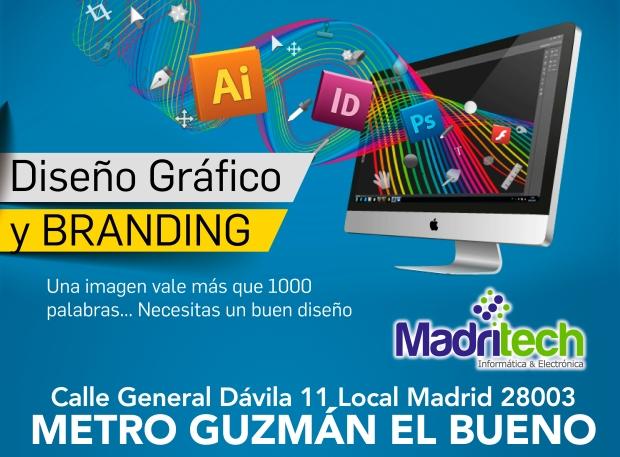 diseño grafico y branding madritech