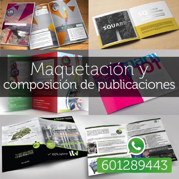 Maquetación de revistas, folletos, catálogos